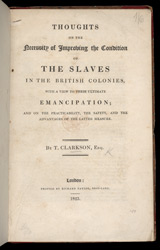 Improving The Condition Of The Slaves In The British Colonies -Title Page
